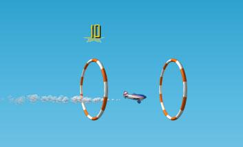 Управляй самолетиком на авиашоу (flash игра)