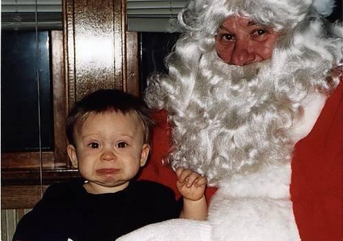 Детишки боятся Деда Мороза (40 фото)